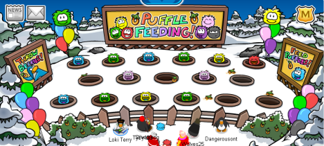 Puffle Feeding Center
